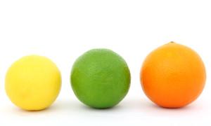 colorful fruit lemon lime and orange