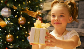 Girl at Christmas