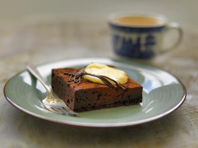 Chocolate Brownie with Tea