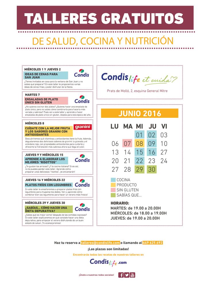 Condislife Talleres Junio 2016