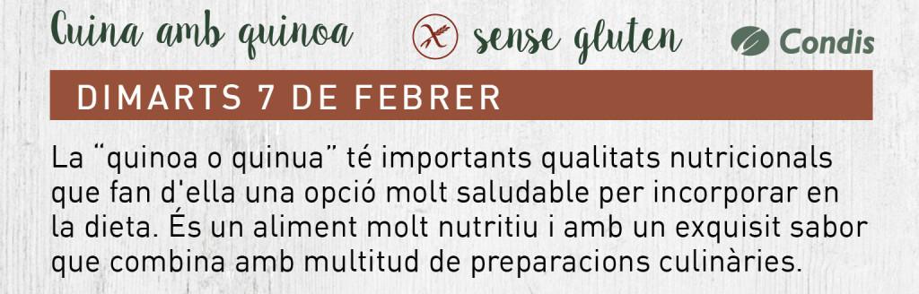tallers febrer quinoa sin gluten cat