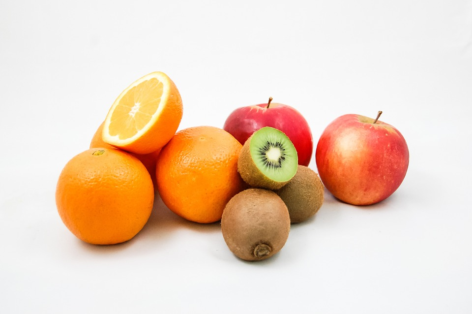 Healthy Eating Fruit Vitamins Kiwi Oranges Apples