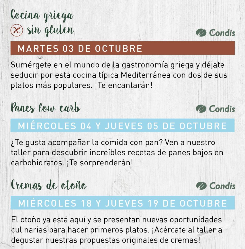 talleres octubre 2