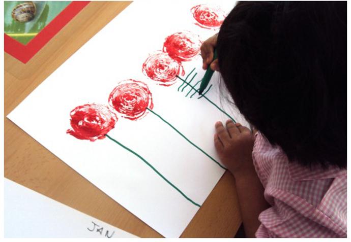 manualidad-rosas-alcachofas-estampacion-pintura-1