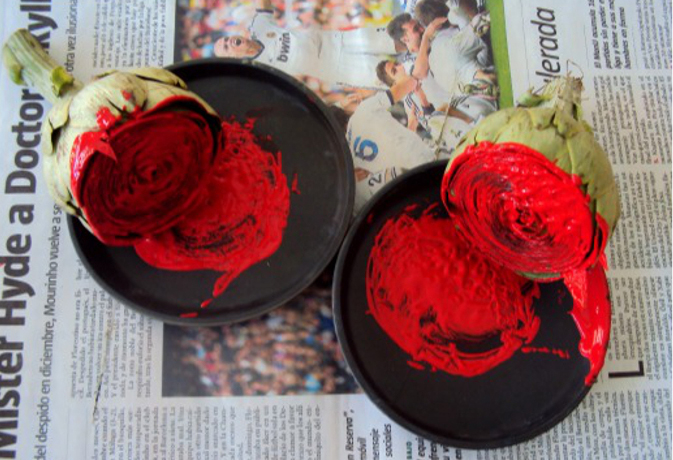 rosas alcachofas