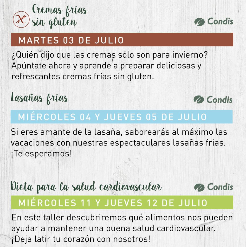talleres julio 2