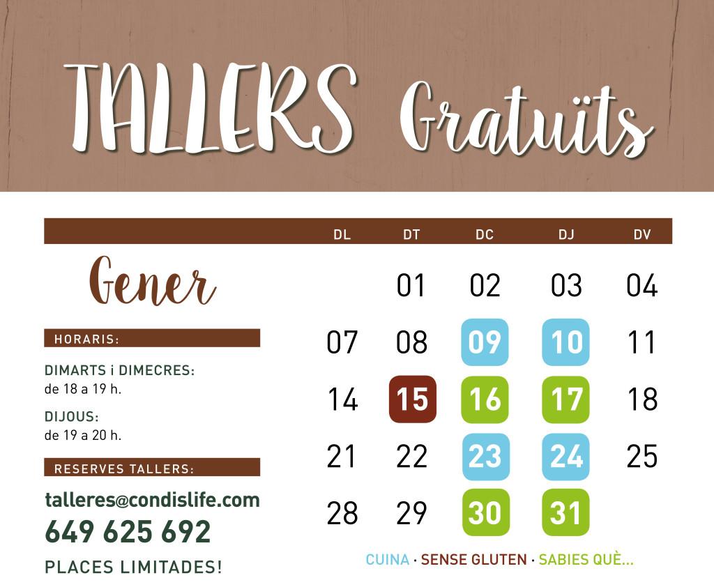 tallers gener 1