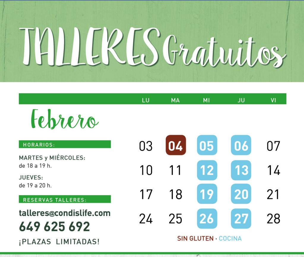 TALLERES FEBRERO 2020 Condis