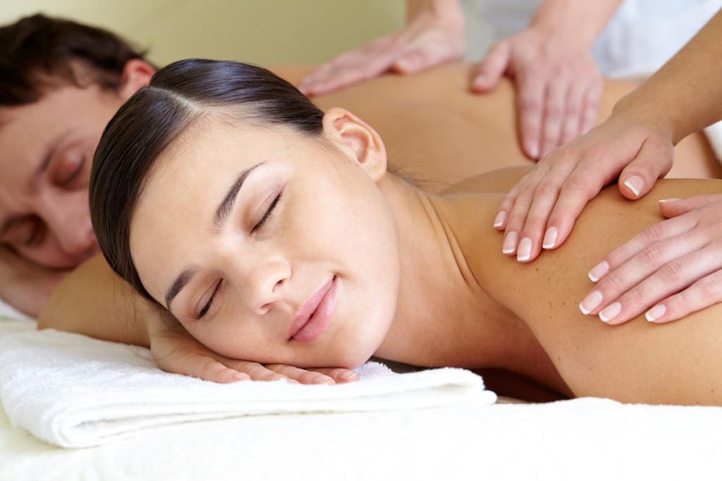masaje en pareja para San Valentín