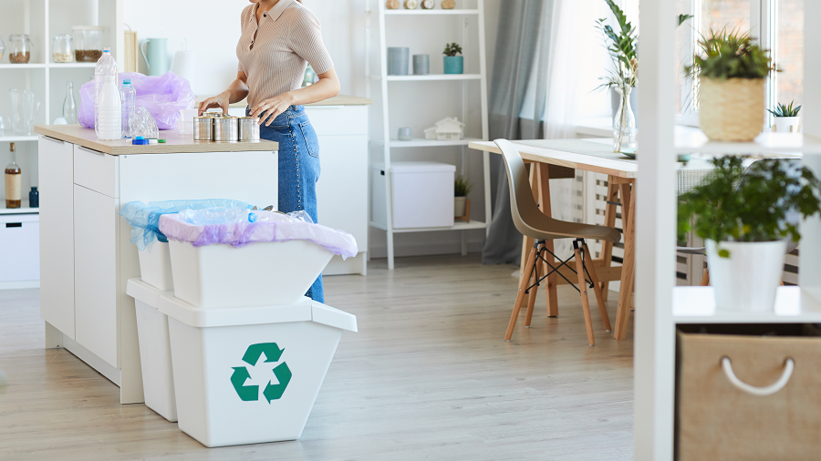Cómo organizar el reciclaje en casa